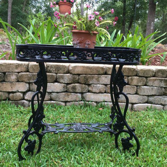 Lovely Vintage Cast Iron Plant Pot Holder Ornate planter Garden planter,