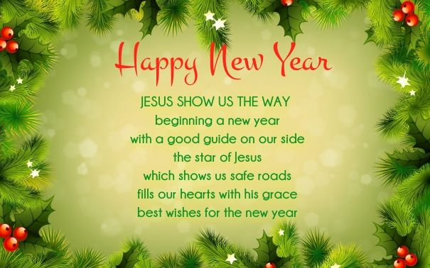 New Year Poems Happy New Year 2014 Wishes Quotes: Christian New Year Wishes Image