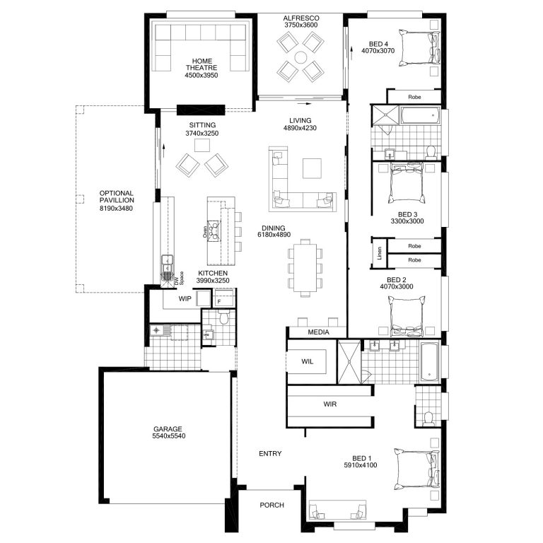 Floor Plan Friday Spacious Open Plan Living Dining Kitchen Area Living Room Floor Plans Home Design Floor Plans Open Plan Kitchen Living Room
