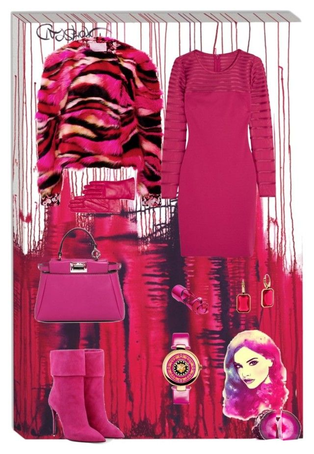 """""""Full immersion..."""" by zabead ❤ liked on Polyvore featuring Grandin Road, Posh Girl, Giamba, Halston Heritage, Fendi, Bloomingdale's, Michael Kors, Maria Francesca Pepe, BaubleBar and Versace"""
