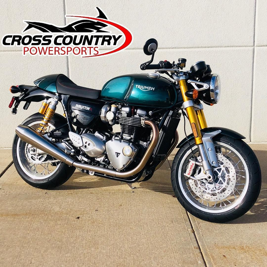 This Beautiful 2019 Competition Green Triumph Thruxton R Arrived