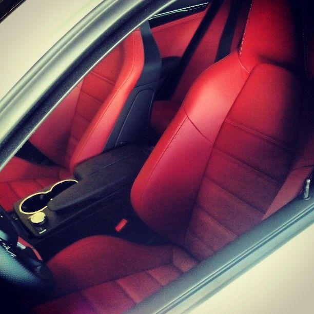 Custom Red Leather Interior In A Mercedes Benz C63 Amg Follow Our