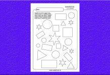 Vyfarbujeme geometrické tvary.