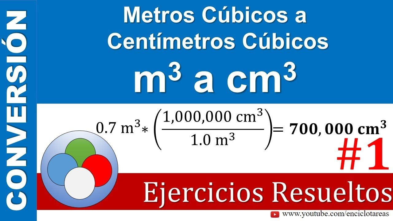 Metros Cúbicos A Centímetros Cúbicos M3 A Cm3 Youtube Conversion De Unidades Conversiones Youtube