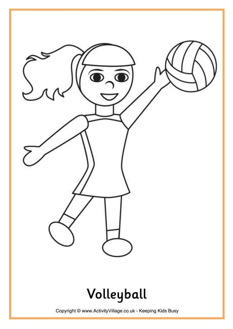 Volleyball Colouring Page Mit Bildern Malen