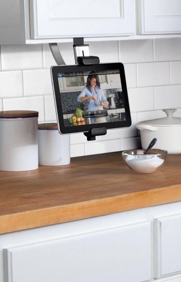 Belkin Kitchen Cabinet Tablet Mount... Looks Like It Could Keep It Out Of