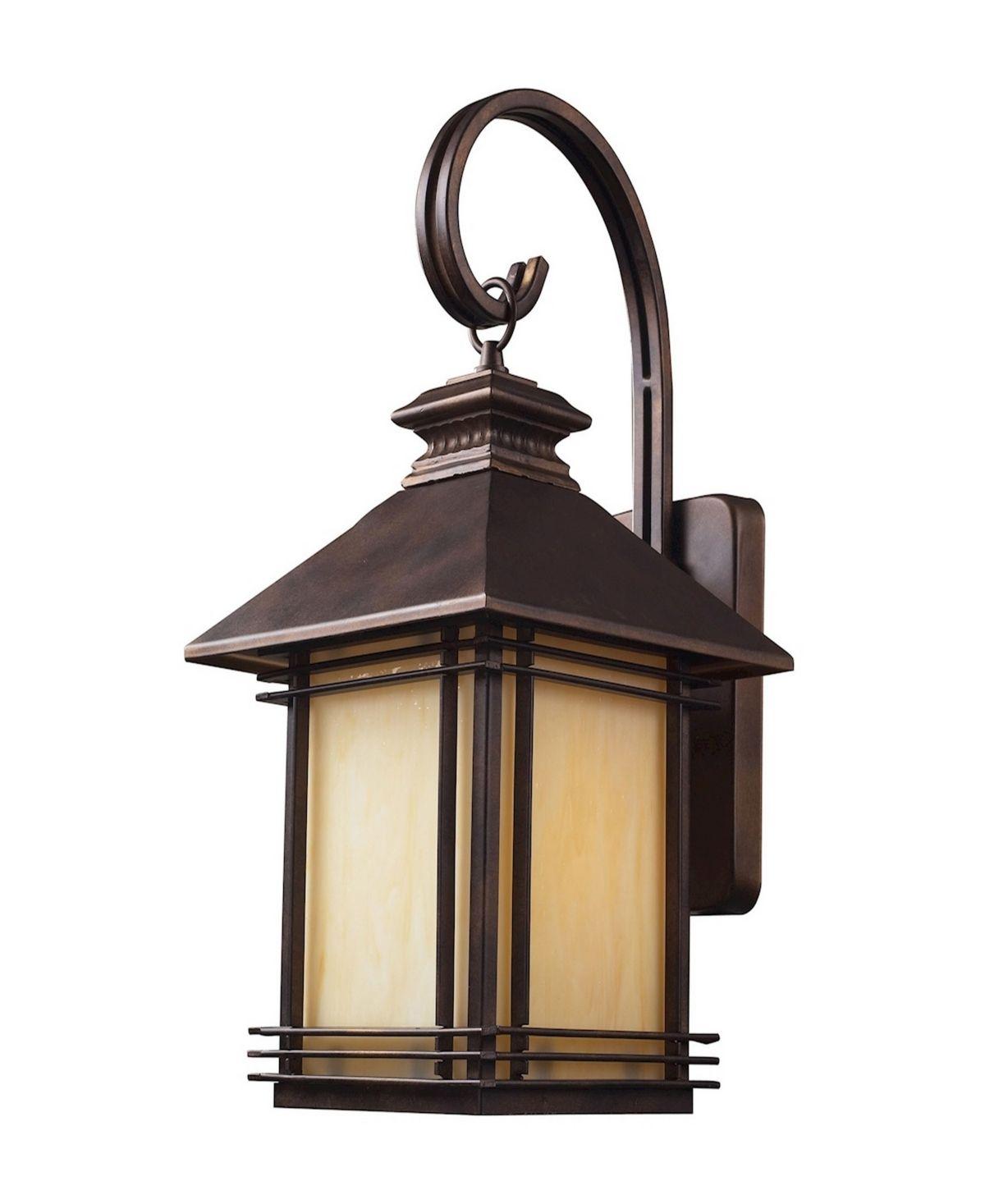 Elk Lighting Blackwell 1 Light Outdoor Wall Sconce In Hazelnut Bronze Reviews Home Macy S Outdoor Sconces Outdoor Wall Sconce Elk Lighting
