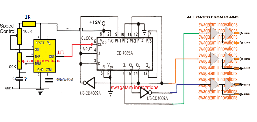 Three Phase Motor Speed Control Circuit Diagram