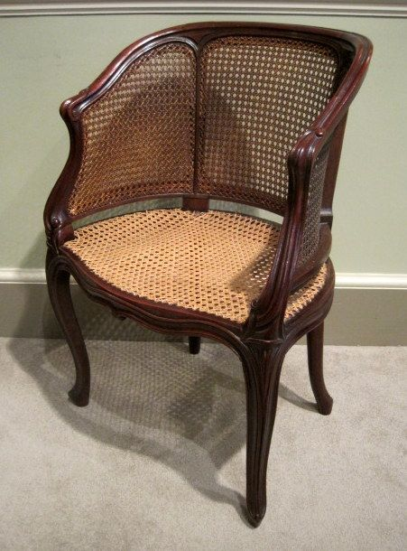 Antique Bergere Desk Chair - Antique Bergere Desk Chair DIY Furniture & Other Wood Projects