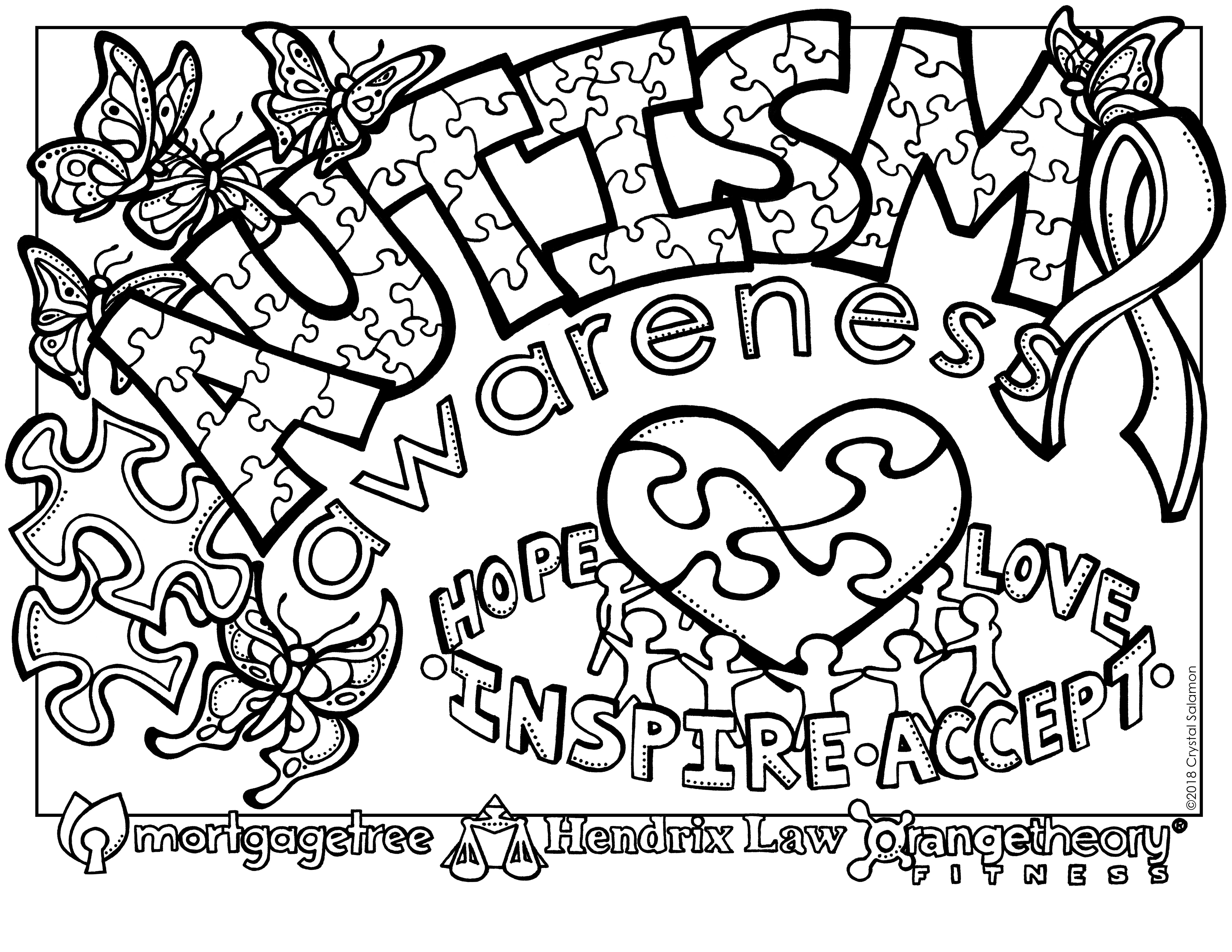 Autismawarenesscolouringcontest2018 Jpg 6 600 5 100 Pixels Coloring Contest Coloring Pages Autism Colors