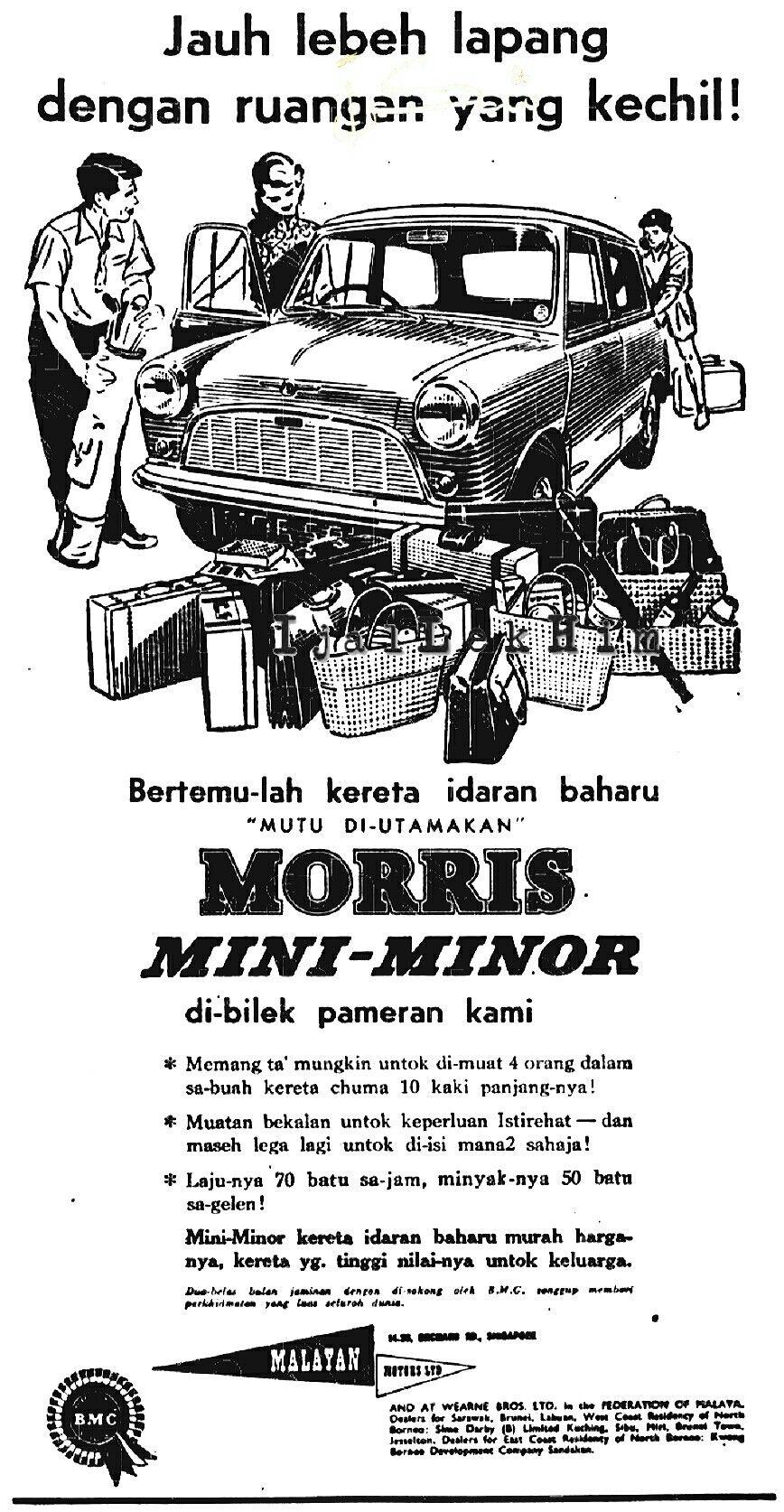 Morris Mini-Minor Adverts | Gambar Klasik | Print ads