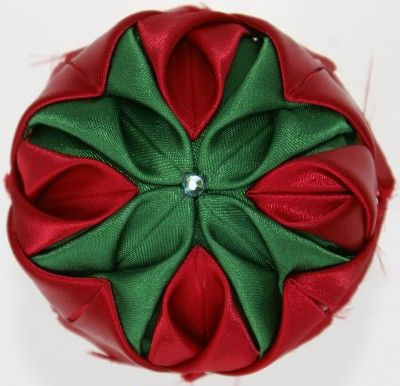 Fabric Ornaments Gallery - Folded Fabric ~ Fans and Stars ... : quilted fabric ornaments - Adamdwight.com