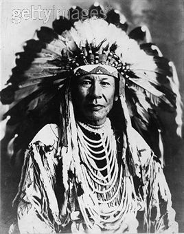 chief duck of the native american blackfoot tribe wild west 1850s