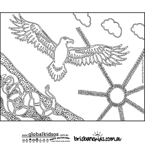 Australian animal aboriginal colouring pages murderthestout for Metis flag coloring page