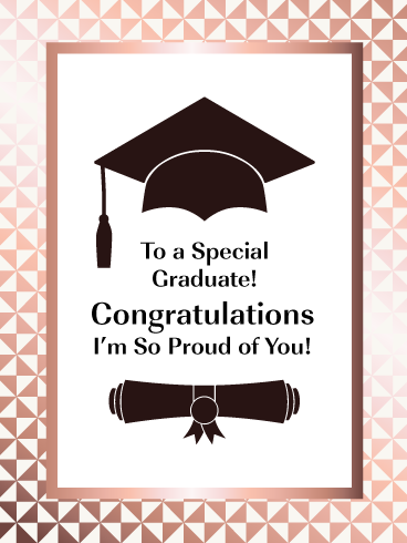 So Proud Of You Happy Graduation Card For Her Birthday Greeting Cards By Davia Happy Graduation Congratulations Card Graduation Happy 50th Birthday Wishes