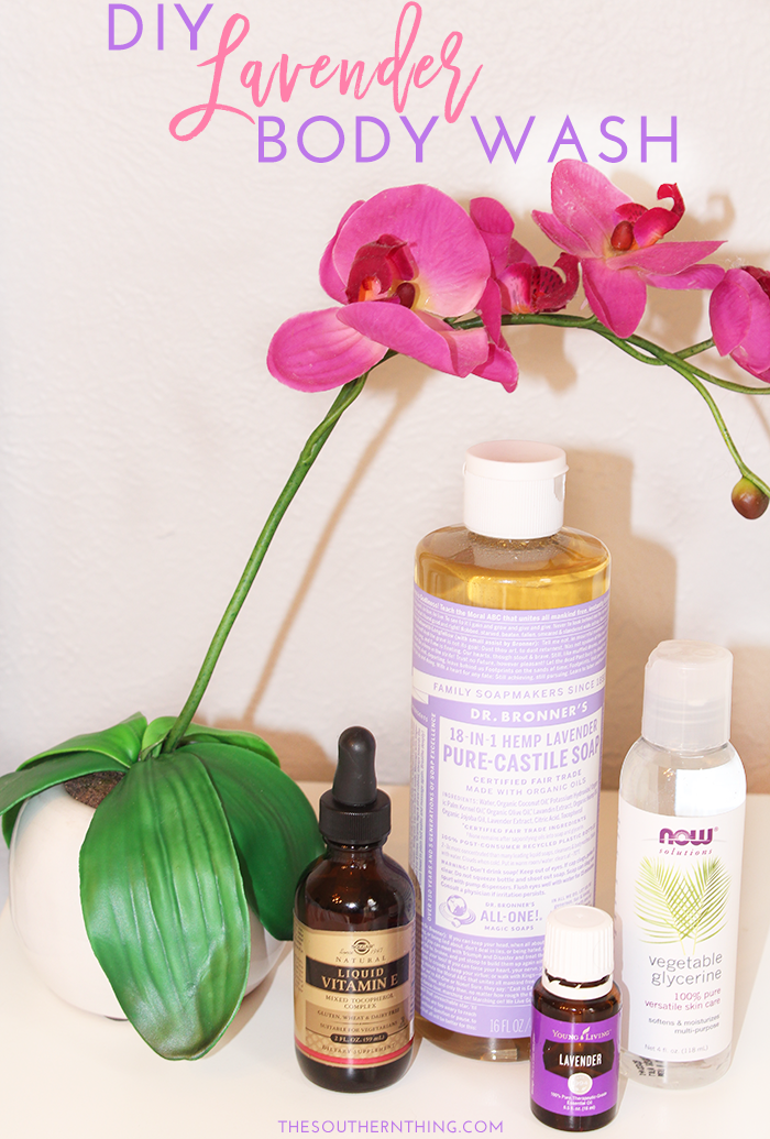 DIY Lavender Essential Oil Body Wash Diy body wash