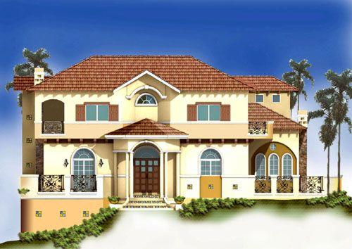 Mediterranean Architecture Homes | Unique Spanish Mediterranean House Design,  Luxury Custom Home Plans By .