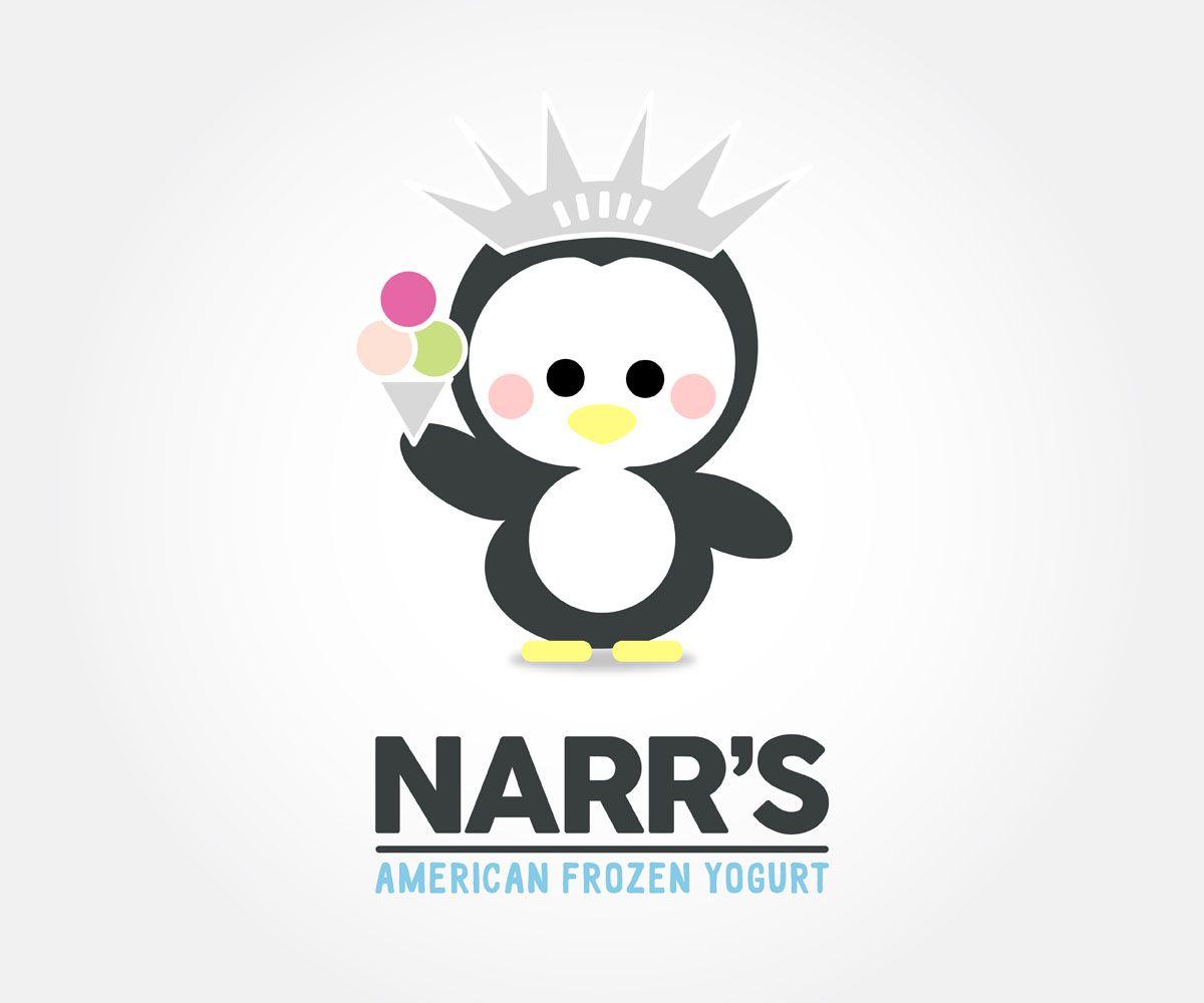Mascot Design. Cute penguin illustration. New York City Frozen Yogurt. By Hey Lex  https://www.pinterest.com/lexpastor/hey-lex-work/