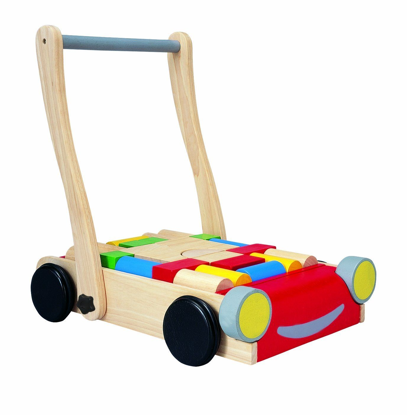 plan toy baby walker includes 24 colored and natural blocks