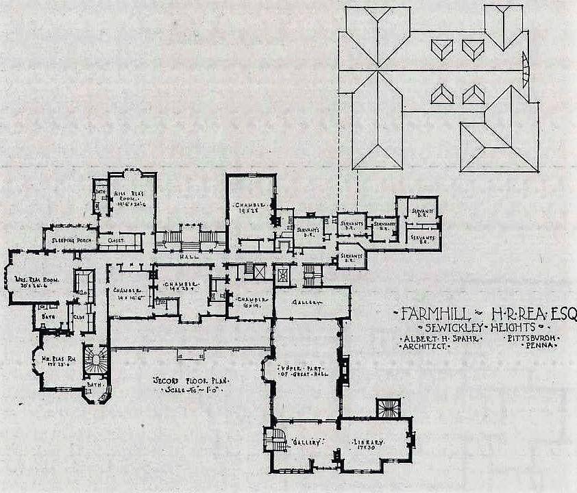 Farm Hill 2nd Floor Architectural Floor Plans Mansion Plans