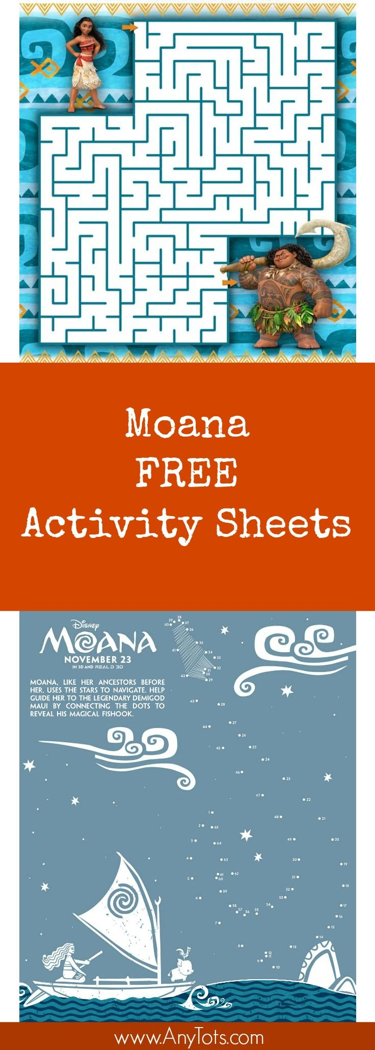 Free Printable: Moana Coloring and Activity Sheets | TheItMom ...