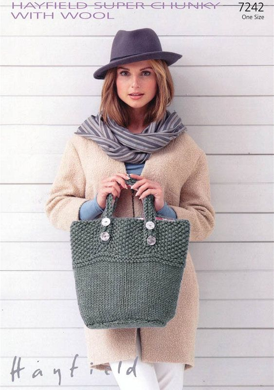 Sirdar Pattern 7242: Bag in Hayfield Super Chunky, McA direct   KNIT ...