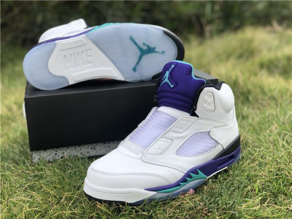 quality design 3522a 9e8e1 Buy Air Jordan 5 Retro NRG Fresh Prince White Grape Ice-Black-New Emerald-4