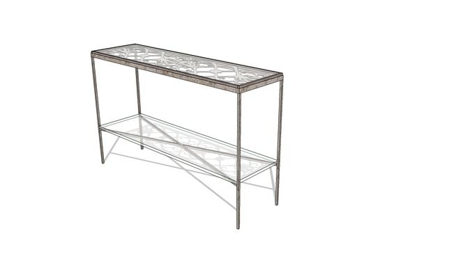 Grungy looking console table - 3D Warehouse