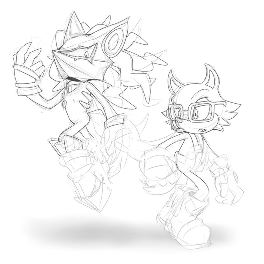 Sonic Forces Infinite And Rookie Wip By Cylent Nite Deviantart Com On Deviantart Sonic Black And White Sketches Artwork