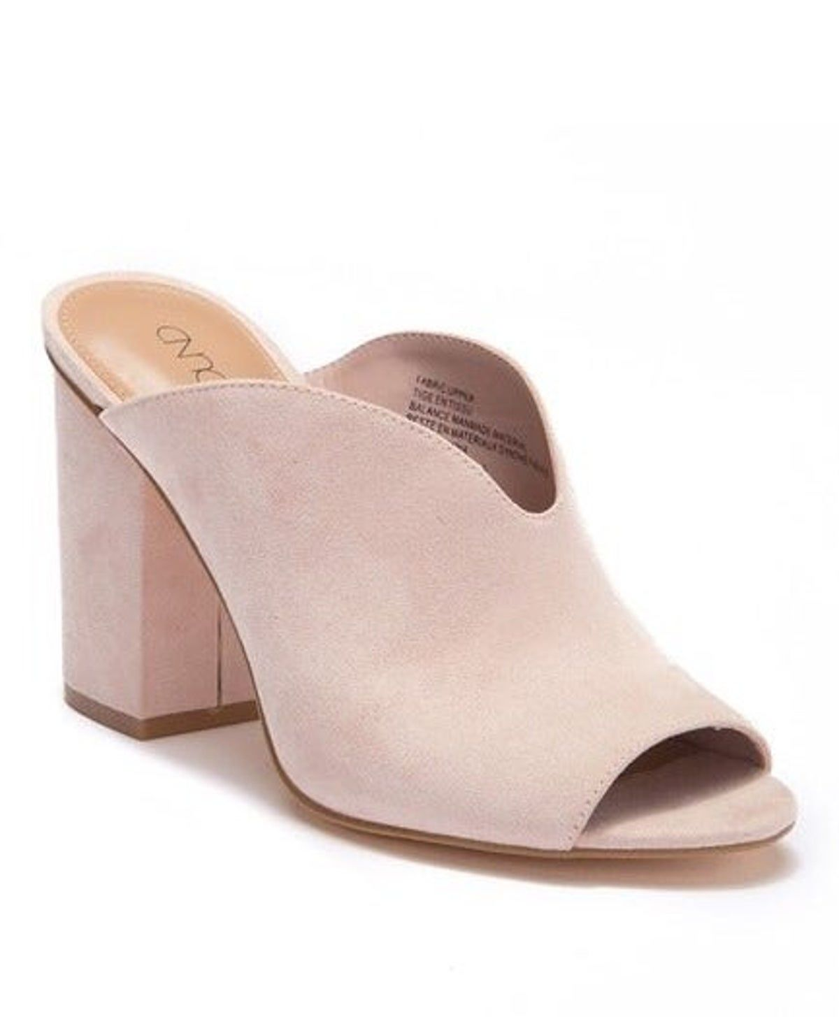 Fashion Women Slip On Sandals High Heel Platform Block Shoes Peep Toe Mules Size