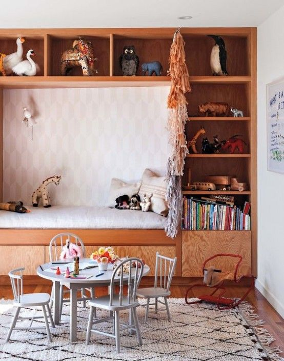 Cute Midcentury Modern Kids Room And Beautiful Wooden Furniture