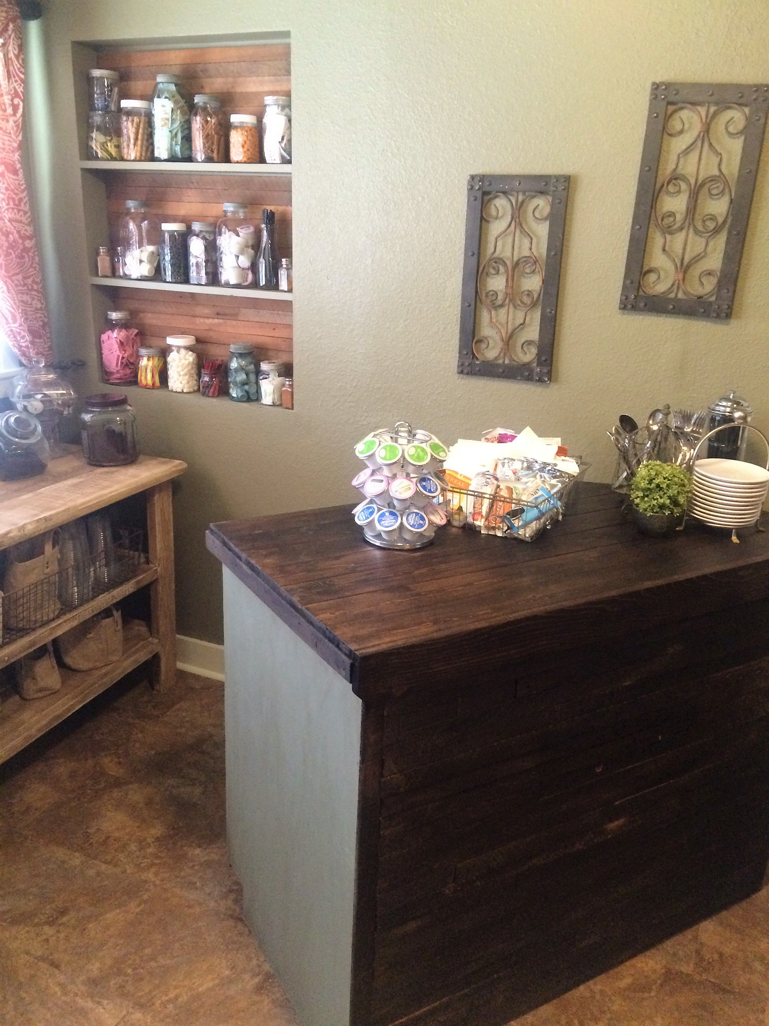 Upcycled cabinet made into a kitchen bar | Upcycled ...
