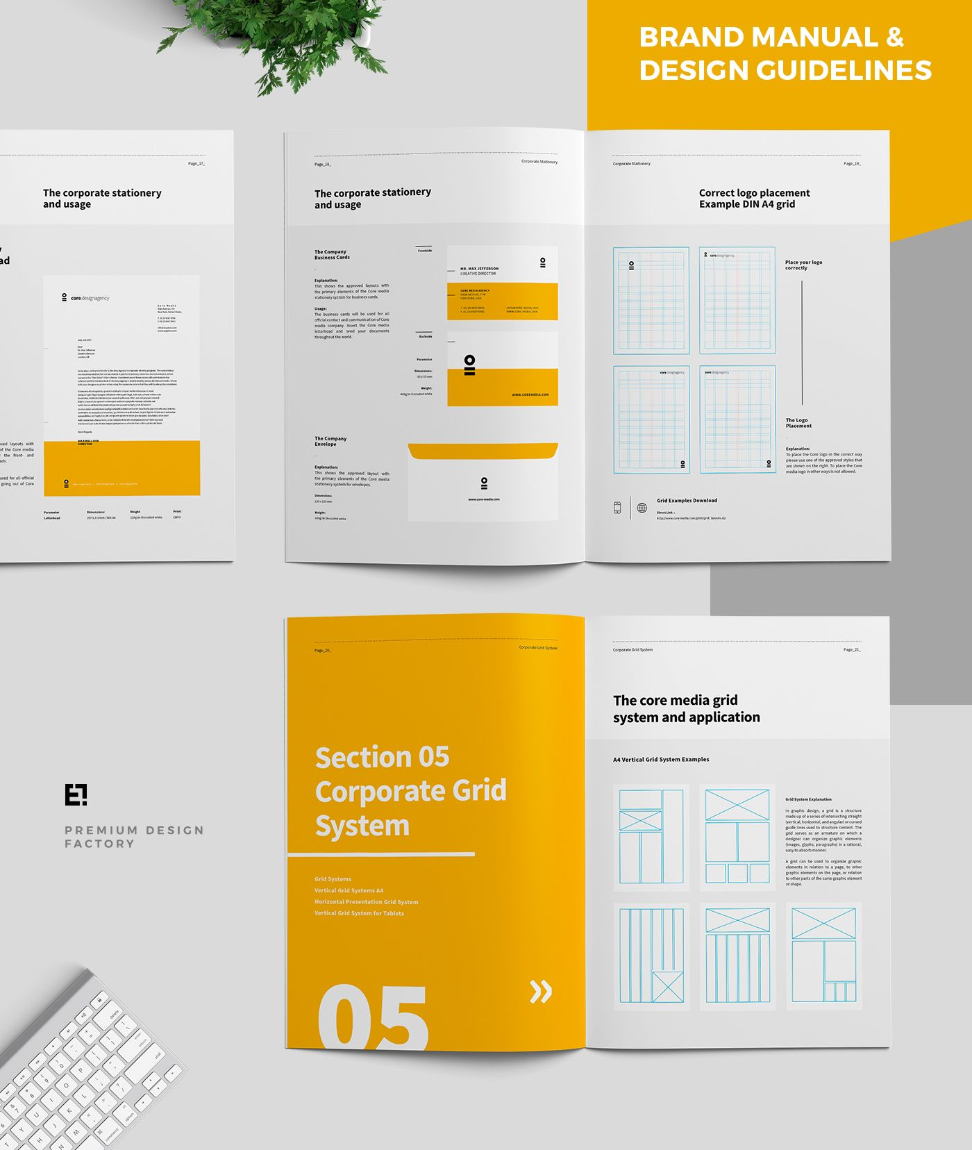 Core Brand Manual & Guidelines on Behance | print | Pinterest
