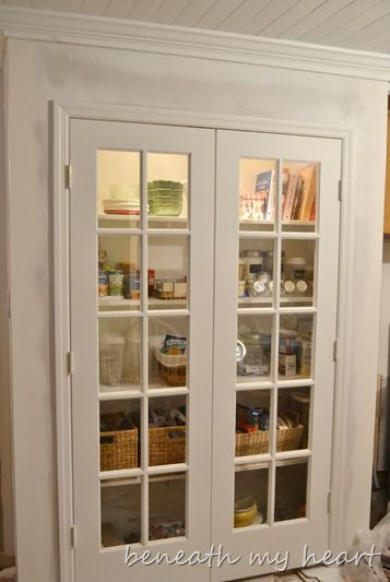 Exceptionnel I Have 2 Old French Doors In The Basement, This Is Perfect! French Door  Pantry