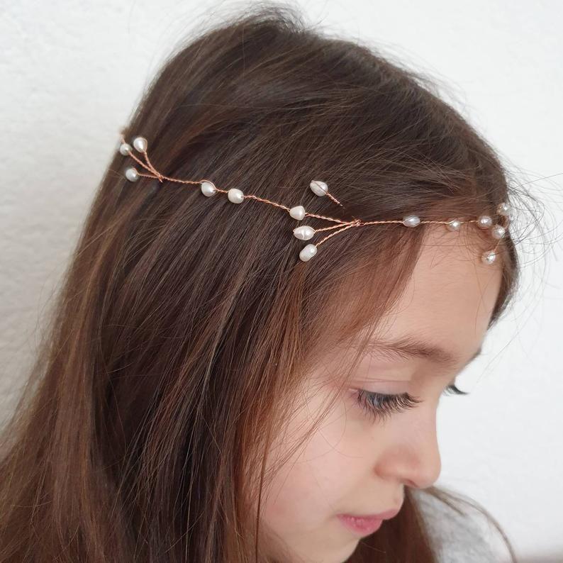 haarschmuck haargirlande süsswasserperlen echte perlen