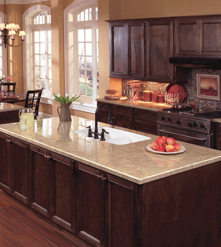 Laminate Countertop And Dark Wood Actually Really Nice Kitchen Pinterest Home