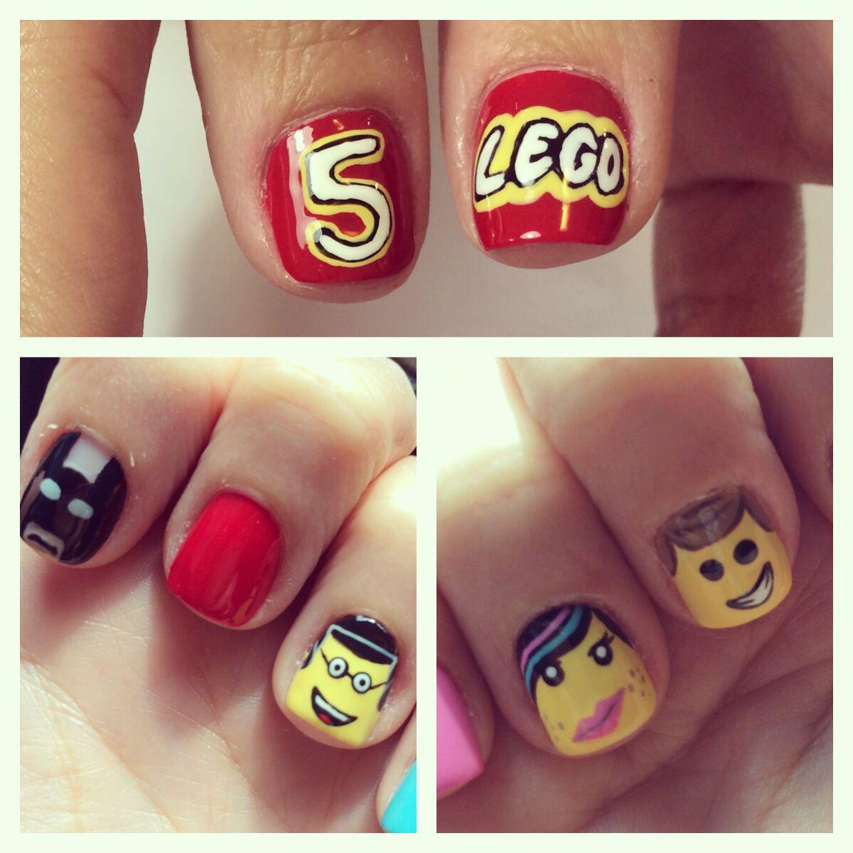 lego movie nail art. batman good