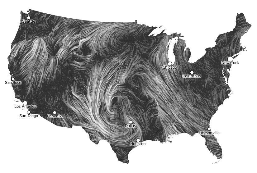 Cool Animated Wind Map At Http Hint Fm Wind Index Html Design