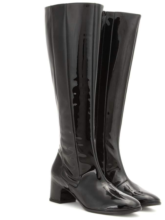 9fbdc88c7a0 Balenciaga Patent leather knee-high boots