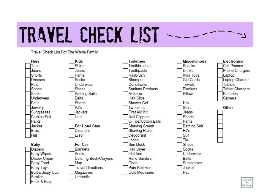 A Family Travel Check List http://mamato5blessings.com/2014/04 ...
