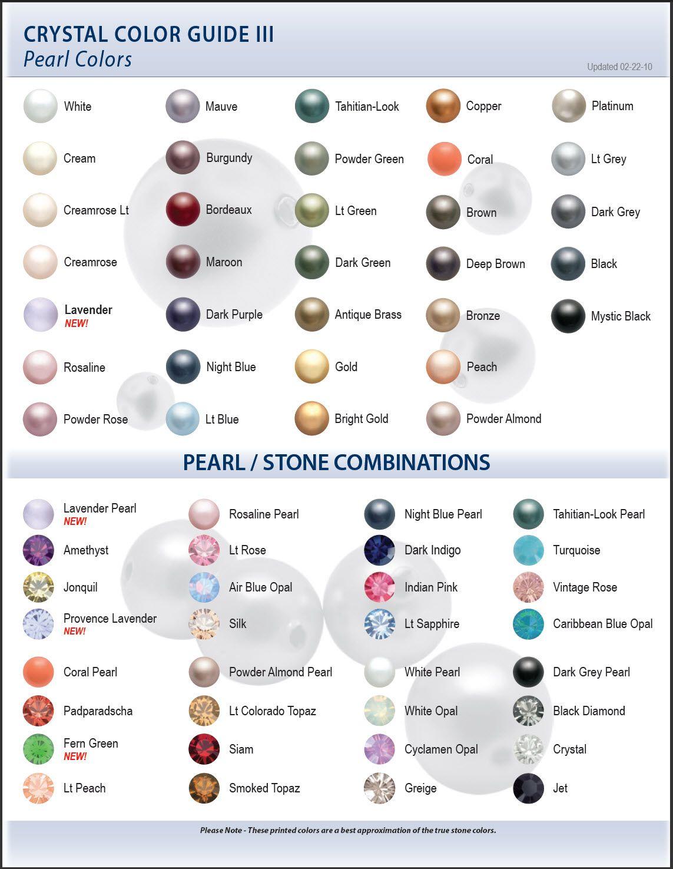 Swarovski pearl color chart google search wedding pinterest swarovski pearl color chart google search nvjuhfo Images