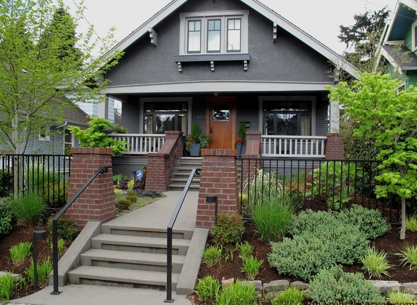 Exterior House Colors With Brick how to use gray with your home's exterior | bricks, white trim and