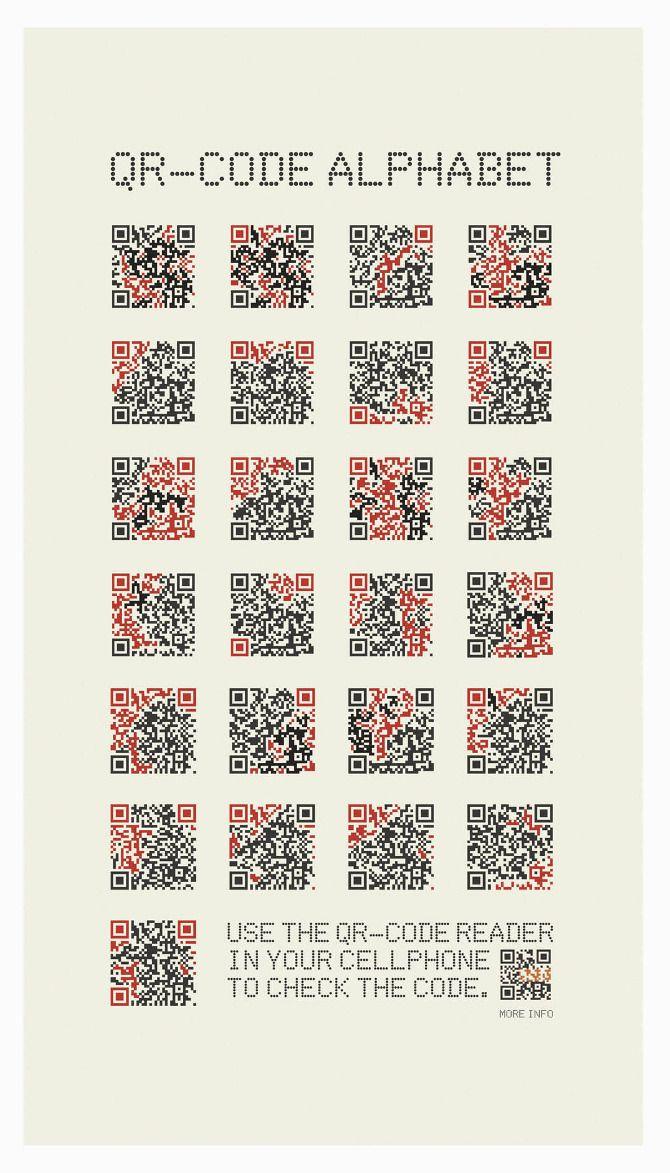 Qr Code Alphabet Geocache R 228 Tselhilfen Pinterest
