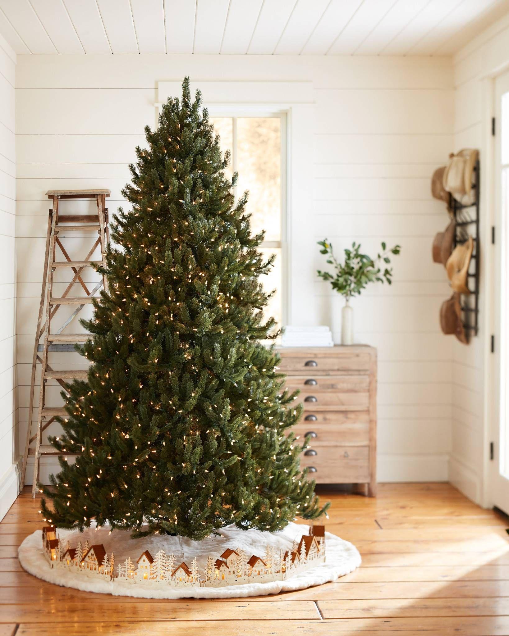 Christmas Village Wood Tree Collar Holiday Decorating