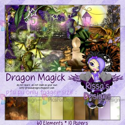 Dragon Magick - Illustration store PicsForDesign.com. PSP tubes, PSD illustrations, Vector illustrations.