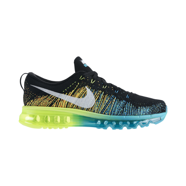 c5d159a76dc7 NIKE FLYKNIT AIR MAX Black Turbo Green Volt White Style  620469-001  225