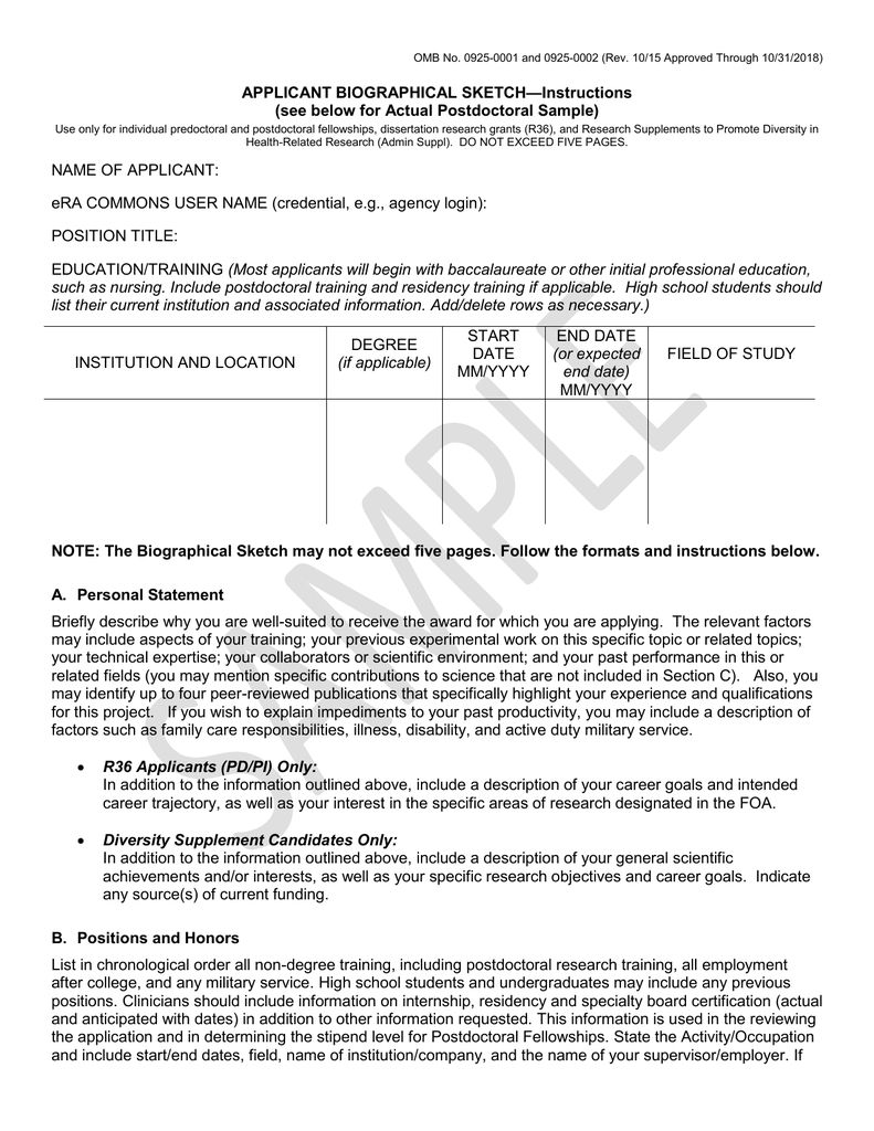 8445c2 Biosketch Nih Template Wiring Resources In Nih Biosketch Template Word Best Sample Template Free Cv Template Word Cv Template Word Word Template