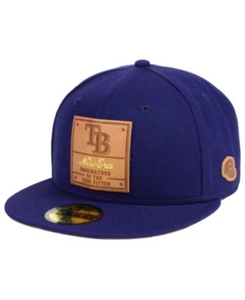 new product bea9a 02ee9 New Era Tampa Bay Rays Vintage Team Color 59FIFTY Fitted Cap - Blue 7 1 4