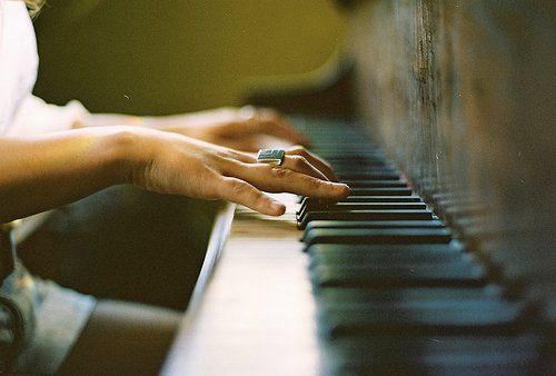 piano + hands.