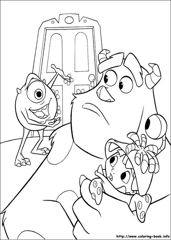 Monsters, inc. coloring picture | Coloring and Activities ...